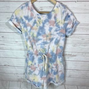 Out from under   Tie Dye Romper/ coverup Large